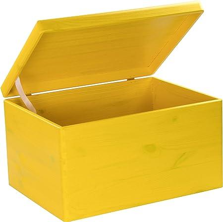 Caja de madera con tapa de Laublust, 40 x 30 x 24 cm, color ...