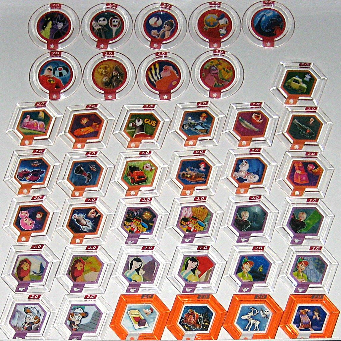 Disney Infinity 2.0 Originals Power Discs Complete Set of 40 by Disney