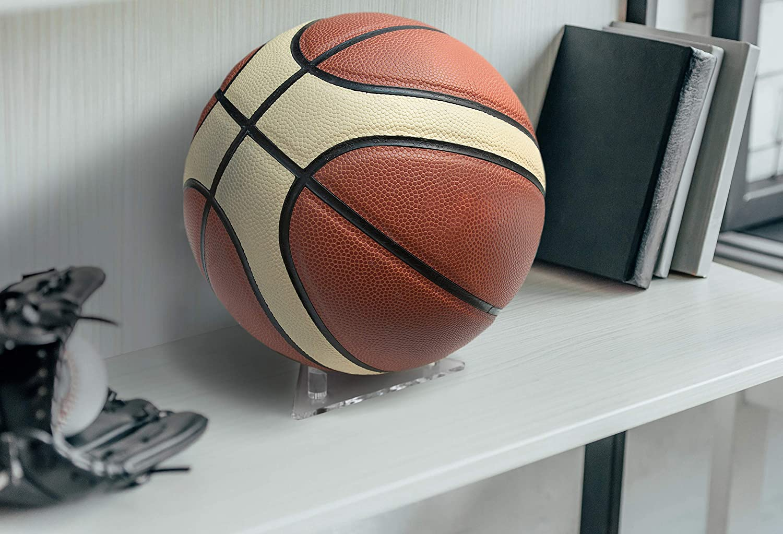 Acrylic Display yashchykov Ball Holder Stand for Footballs Basketballs Volleyballs Soccer Balls