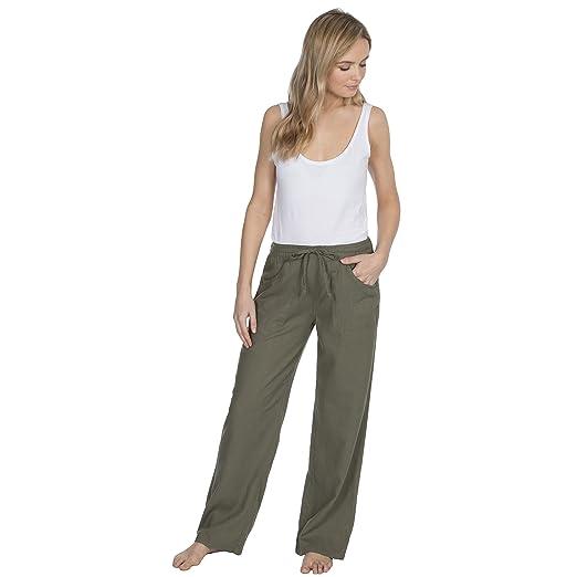 463ec72c935 Metzuyan Womens Linen Summer Drawstring Pants Plus Size at Amazon Women s  Clothing store