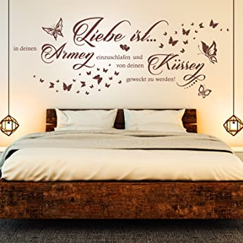 Wandtattoo Liebe ist in deinen Armen einzuschlafen... | Spruch Paare ...