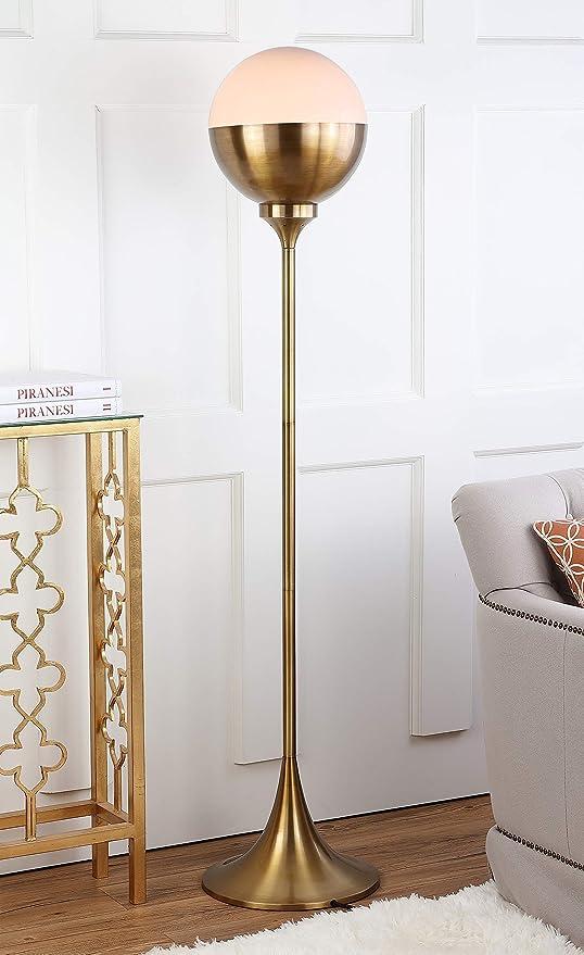 Safavieh Fll4006a Lighting Collection Renato 63 5 Brass Gold Floor Lamp Amazon Com