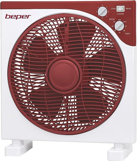Beper VE.451H Ventilador de suelo, 30 W, Rojo y blanco: Amazon.es ...