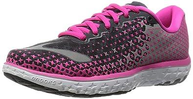 c7f6812b34f Brooks Women s PureFlow 5 Anthracite Pink Glow Alloy Sneaker 6 B ...