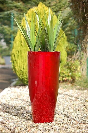 Exklusive Pflanzkübel pflanzkübel pflanzgefäß blumenkübel exklusiv fiberglas rot city