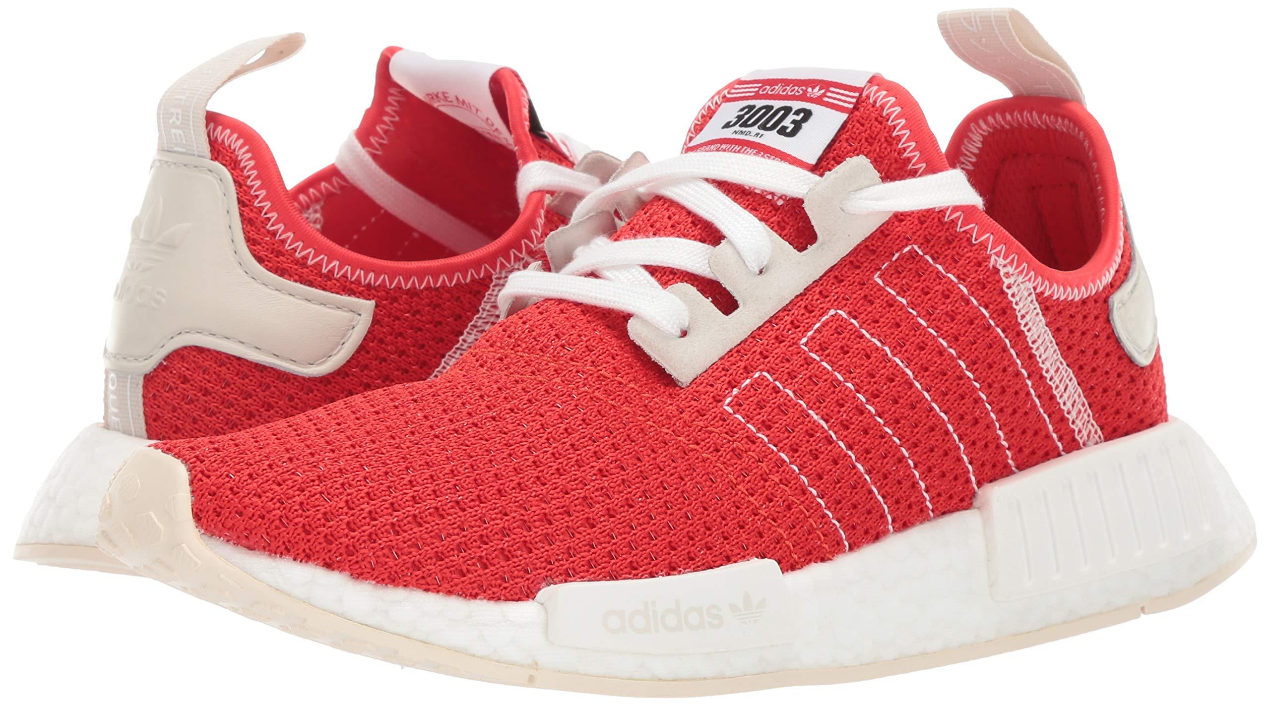 adidas Originals Men's NMD_R1 Running Shoe, Active red/Ecru Tint, 4 M US by adidas Originals (Image #6)