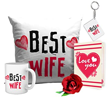 tied ribbons romantic valentines gifts best wife gift combo mugkeyring