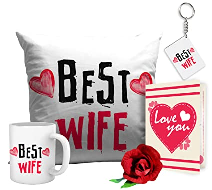 Buy Tied Ribbons Valentine Day Gifts For Wife Best Wife Combo