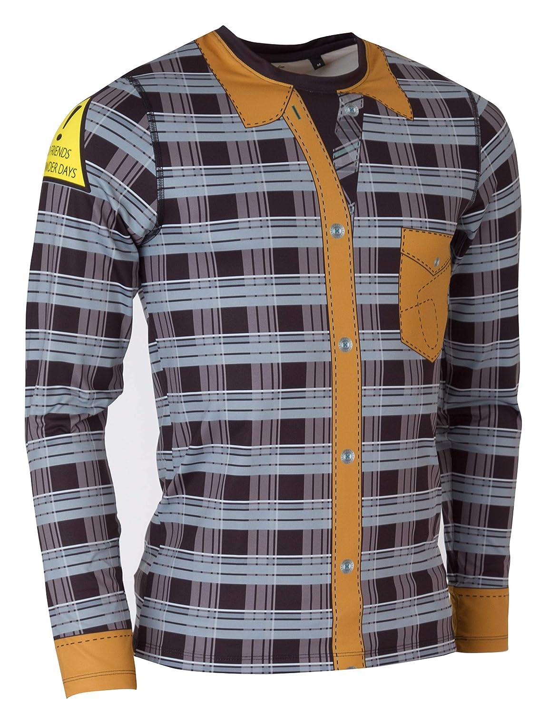 FreiSein Hillbilly Langarm Funktions-Shirt für Herren mit einzigartigem Print und in 3D Superstretch Qualität