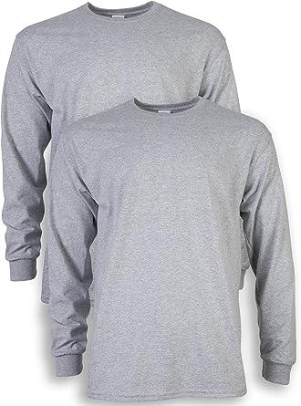 Gildan - Camiseta de manga larga para hombre (algodón, 2 unidades ...