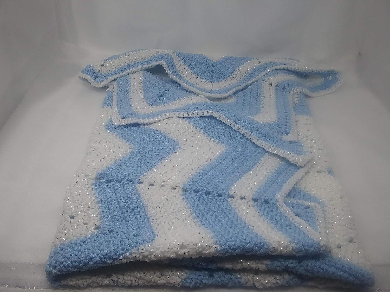 Pram Blanket Gift For Newborn Blue Baby Blanket Baby Shower Gift Cot Blanket White Baby Blanket Crochet Blanket Car Seat Blanket