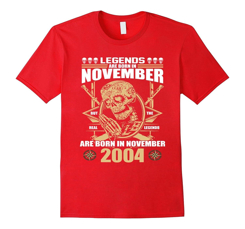 November 2004 13th Birthday 13 Years Old Gift T-Shirt-TJ