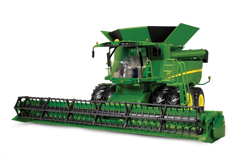 John Deere Combine >> Amazon Com Ertl Big Farm 1 16 John Deere S670 Combine Toys Games