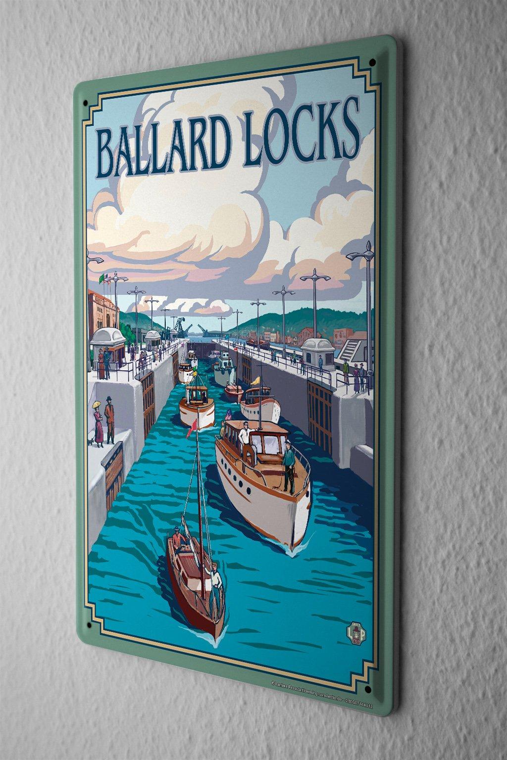 Tin Sign Adventurer Ballard locks