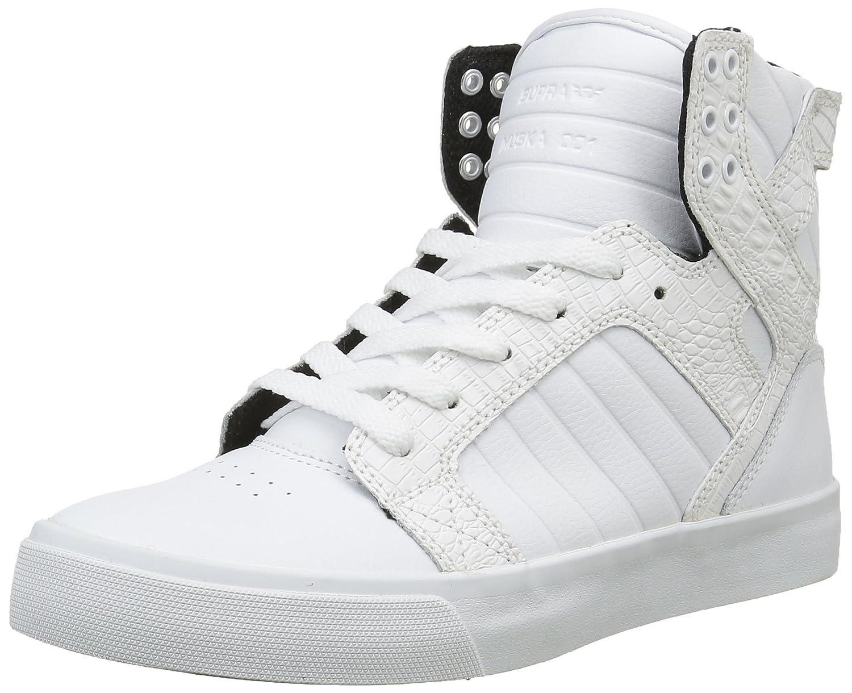 Supra Women's Skytop Sneaker B00R8NHU1Y 6.5 B(M) US|White/Croc/White
