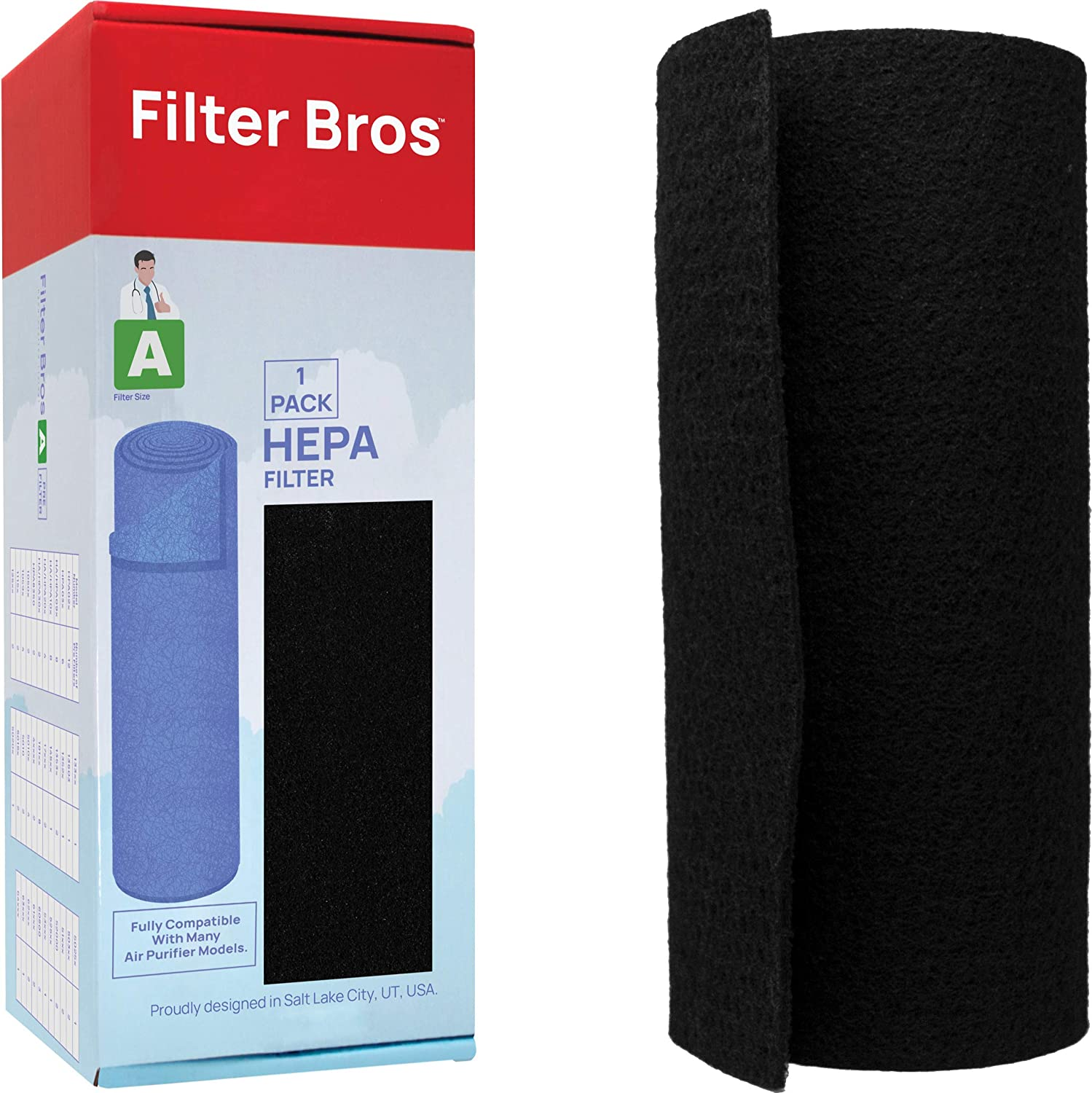 HRF-APP1 Honeywell Compatible Universal Activated Carbon Pre Filter HPA 090/100 / 200/250 / 300 Series Compatible/Customizable Replacement Pre Filter