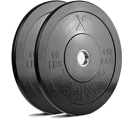 "CAP Barbell Olympic 2/"" Rubber Bumper Plate Solid Plates Squat Crossfit Deadlift"
