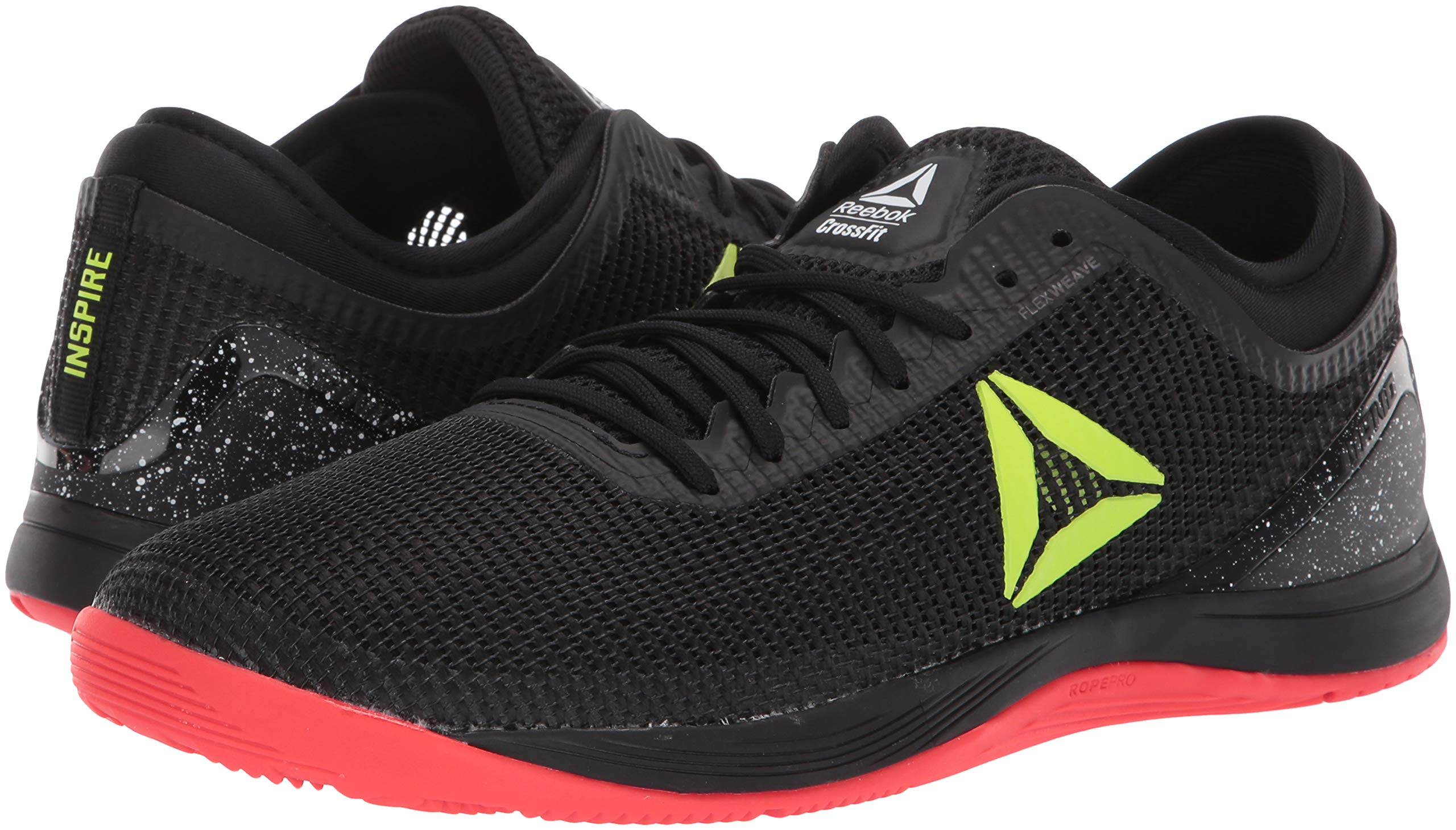 Reebok Men's CROSSFIT Nano 8.0 Flexweave Cross Trainer, Black/Neon Red/Neon Lime/White, 6.5 M US by Reebok (Image #5)