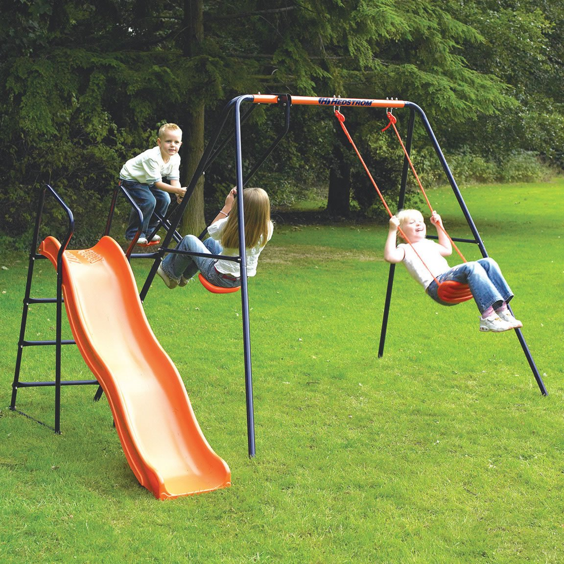 Amazon.com: Childrens Garden Swing With Slide Headstrom Saturn Swing Set By  Big Red Warehouse: Toys U0026 Games
