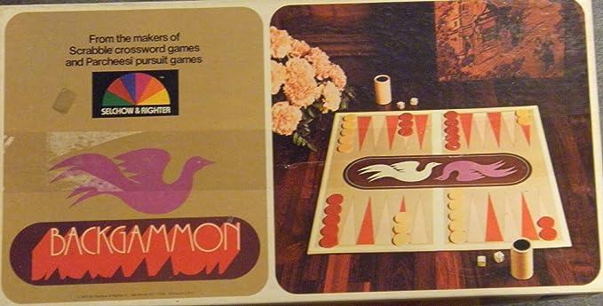 Vintage Backgammon game 1975