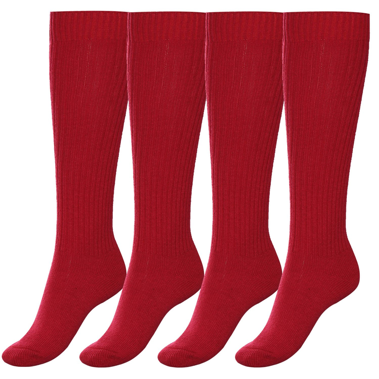 Athletic Socks, Aibrou 5 or 4 Pairs Wool Socks Unisex Under Knee High Socks Wool Rich Everyday Socks Compression Length Socks AMB00043_C_M_4