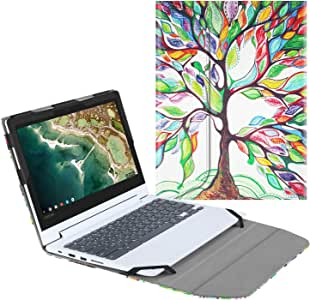 "Fintie Sleeve Case for 11.6"" Lenovo Chromebook C330 - Premium PU Leather Protective Portfolio Book Cover (NOT Fit Lenovo Chromebook N20p / N21 / N22 / N23 / 300E / 500E / Flex 11), Love Tree"