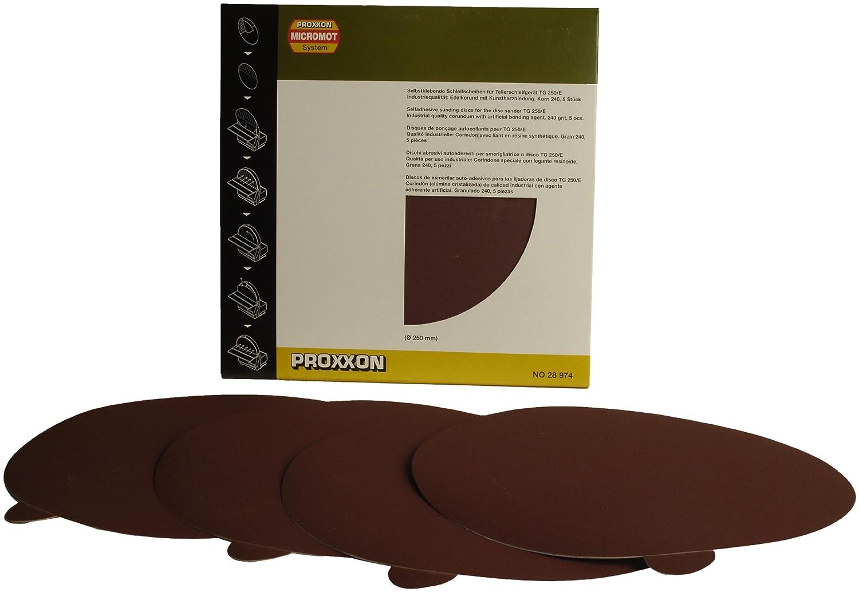 240 grit 5 pieces Proxxon 28974 Self-adhesive corundum sanding discs for TSG 250//E