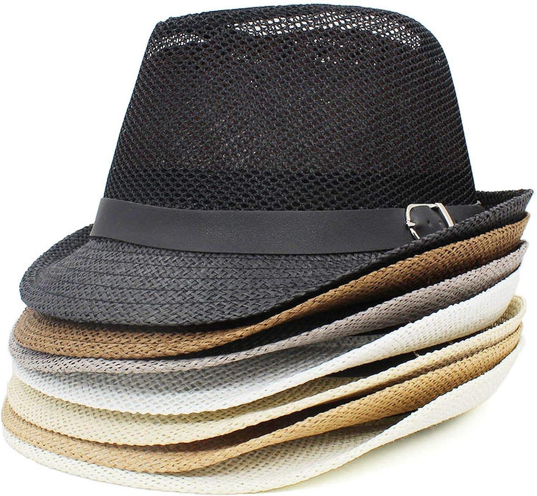 Men Fedoras Hat Hollow Out Ventilat Jazz Cap Adult Bucket Hat Sun Cap for Lady Summer Panama Hat