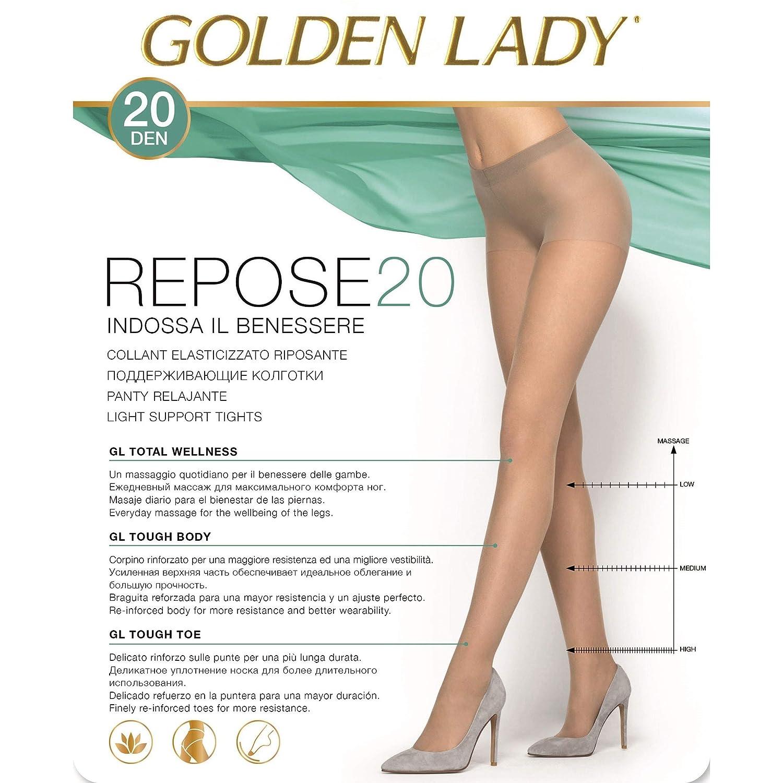 Golden Lady Repose Set 10 Repose Collant 20 den Grigio Fumo Taglia XL 36f