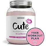 Milk-Shake / Smoothie Fraise pour maigrir tout en restant en forme - Substitut de repas diététique sous forme de boisson en poudre hyperprotéinée basses calories - Guide pour perdre du poids offert