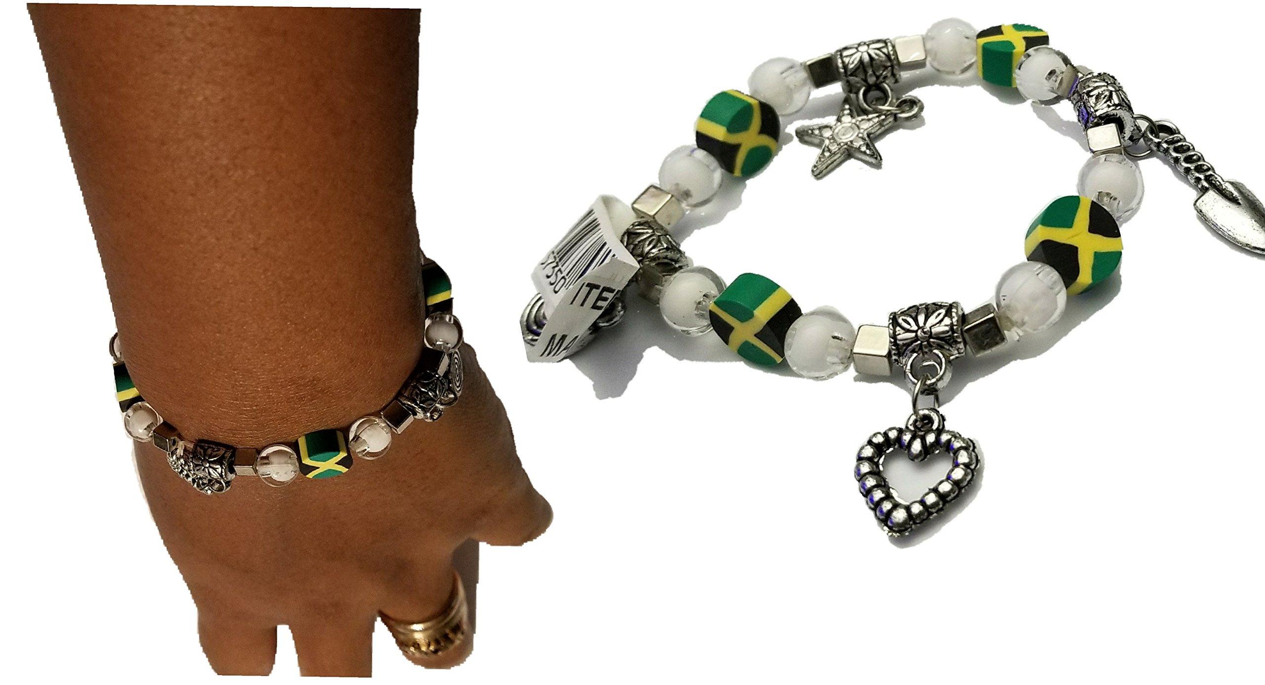 BUNFIREs Women Jamaica Jamaican Flag Bracelets Jewelry (Bracelet Charm) by BUNFIREs (Image #3)