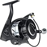 RUNCL Spinning Reel Grim I, Smooth Spinning Fishing Reel - Precision NCTM Brass Gears, 10+1 Stainless Steel Shielded Bearings, Sealed Drag, CNC Vented Spool, Bigger Drag Knob, Spare Spool/Handle