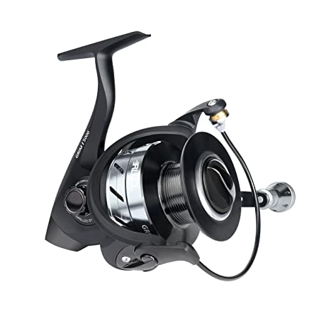 RUNCL Spinning Reel Grim I, Smooth Fishing Reel 2000-6000 Series, 10 1 Stainless Steel Shielded Bearings, Sealed Drag, Lightweight Spinning Fishing Reel for Freshwater Saltwater Boat Fishing Black