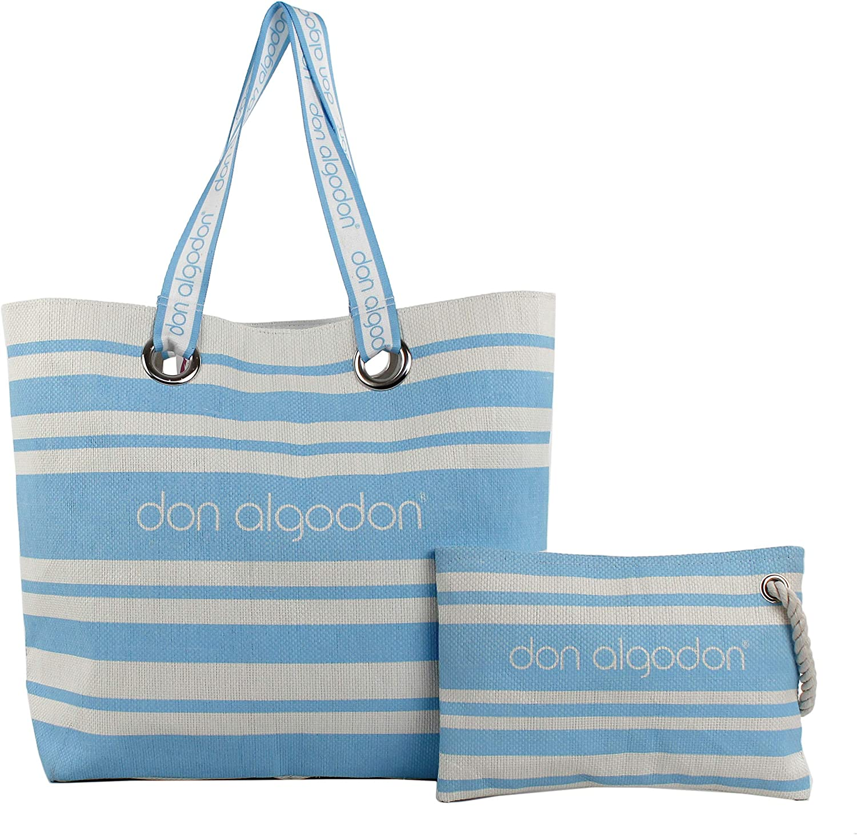 Don Algodon Beach Edition, Bolsa de Tela y de Playa para Mujer, (Azul), 17x49x38 cm (W x H x L): Amazon.es: Zapatos y complementos