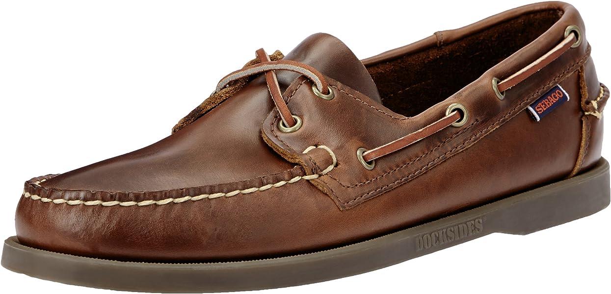 nytt koncept tidlös design lägsta rabatt Sebago DOCKSIDES Men's Boat Shoes, Brown (Brown Oiled Waxy Leather ...