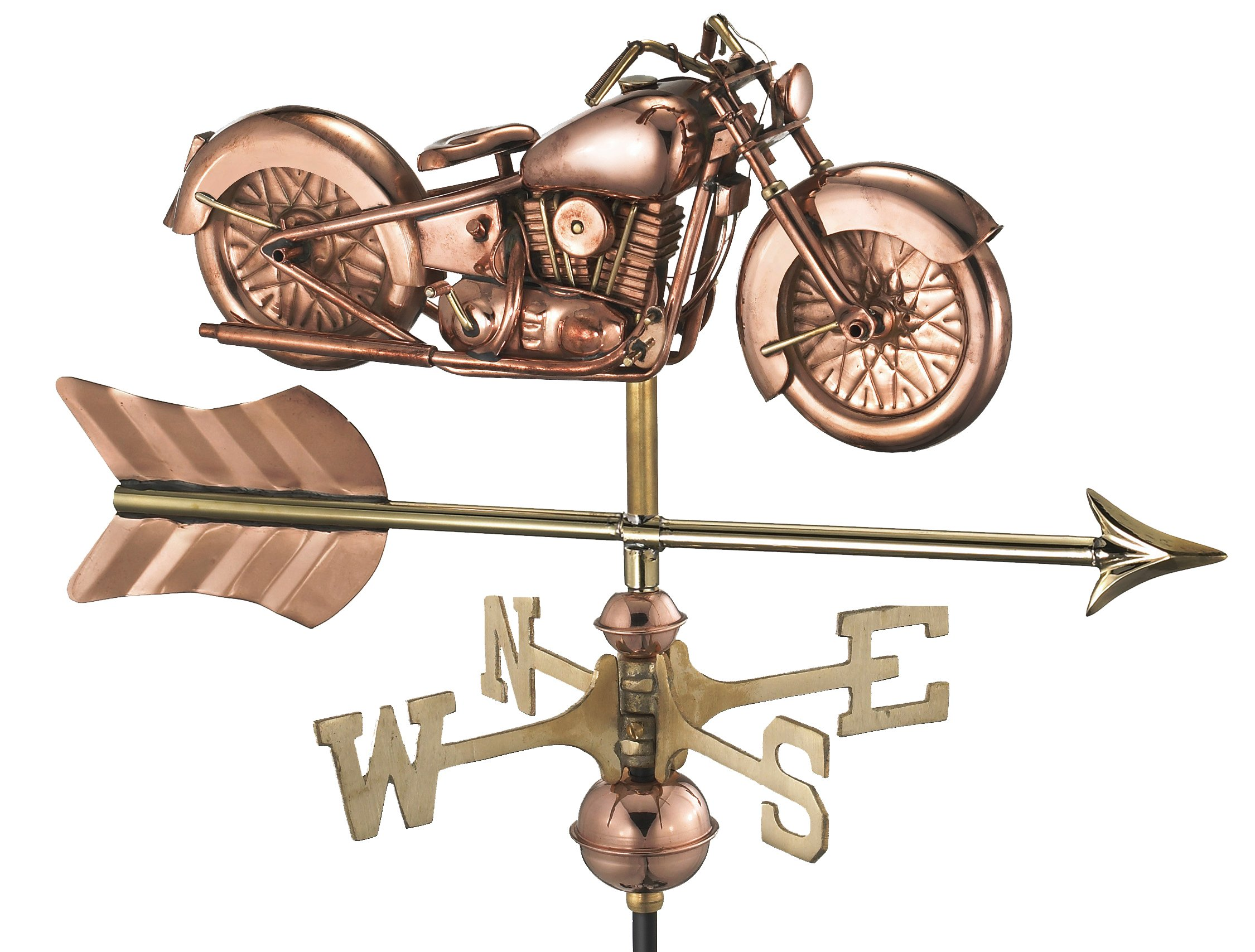 Good Directions Motorcycle with Arrow Garden Weathervane