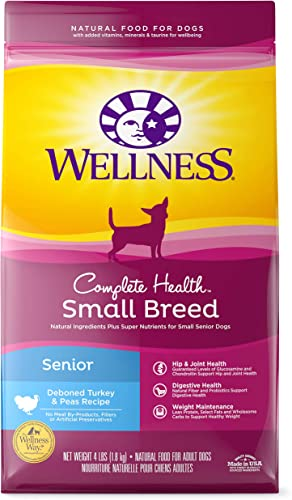 Wellness Complete Health Natural Dry Small Breed Dog Food Small Breed Senior Turkey Pea