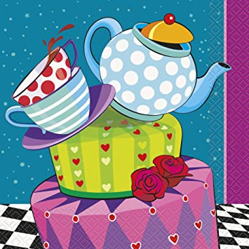 Amazoncom Mad Hatter Tea Party Napkins 16ct Kitchen Dining