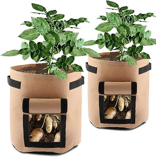 SHANNA, Bolsas de Cultivo para Patatas, Zanahorias, Tomates ...