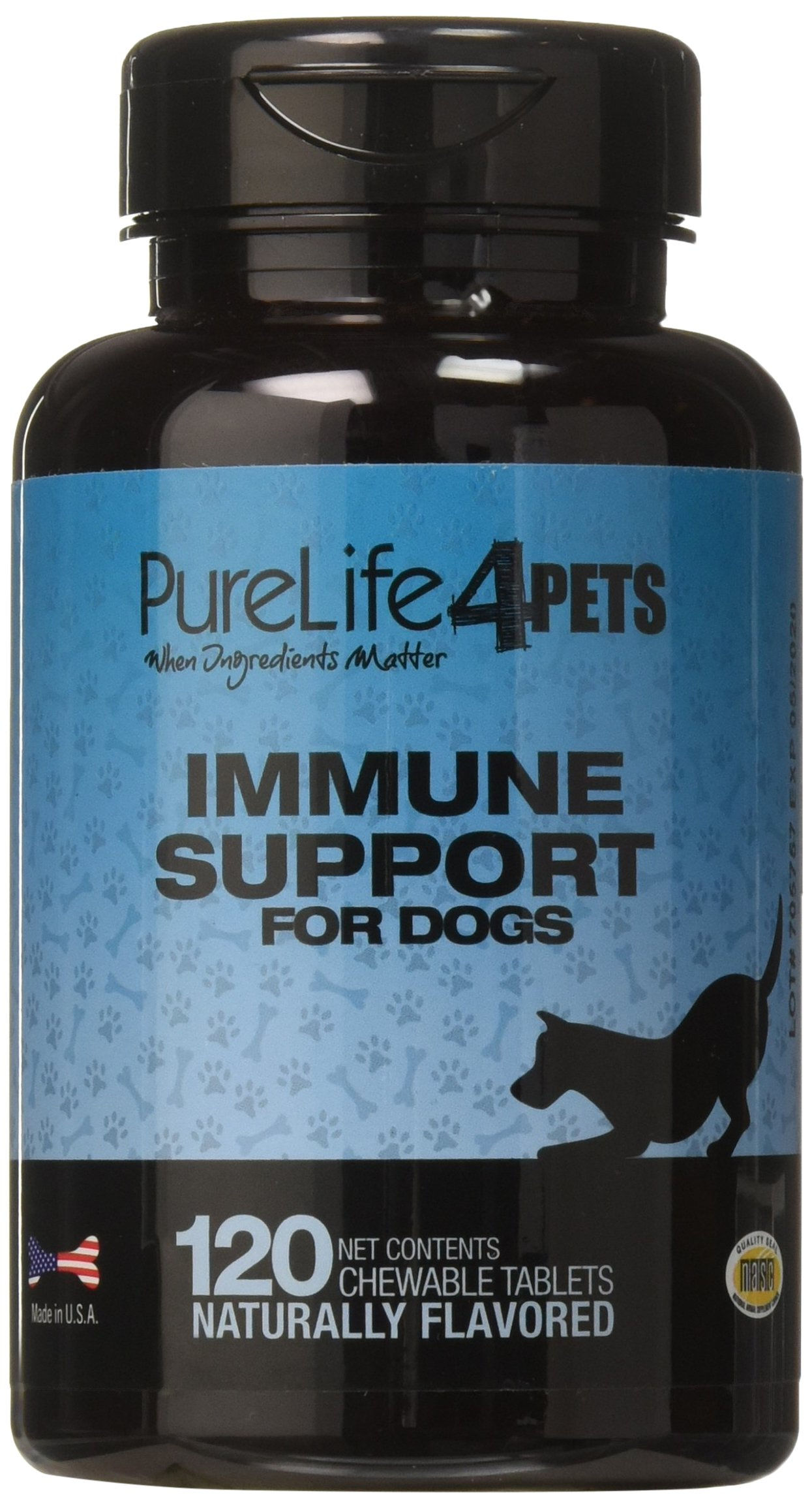 Immune Support Supplement for Dogs – 120 natural chews tablets with Organic Spirulina, Astaxanthin and Coenzyme Q10 – Provides antioxidants – Supports overall ocular health - Made in USA