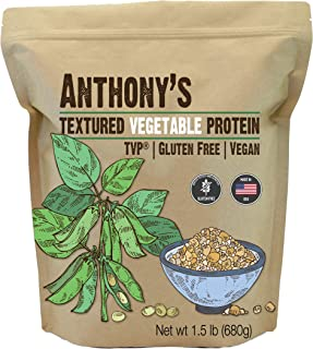 product image for Anthony's Textured Vegetable Protein, TVP, 1.5 lb, Gluten Free, Vegan, Made in USA, Unflavored