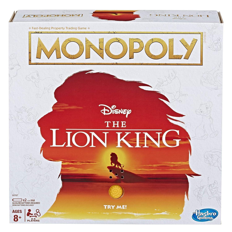モノポリーゲーム ディズニー ライオンキングエディション ファミリーボードゲーム B07MCW3B3M