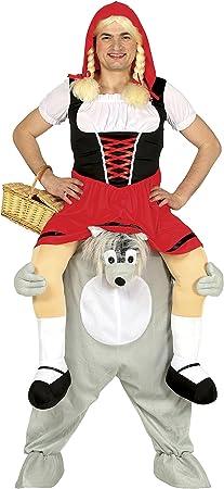 Incluye un pantalón con piernas y forma de lobo y un vestido de caperucita,Ideal para fiestas, despe