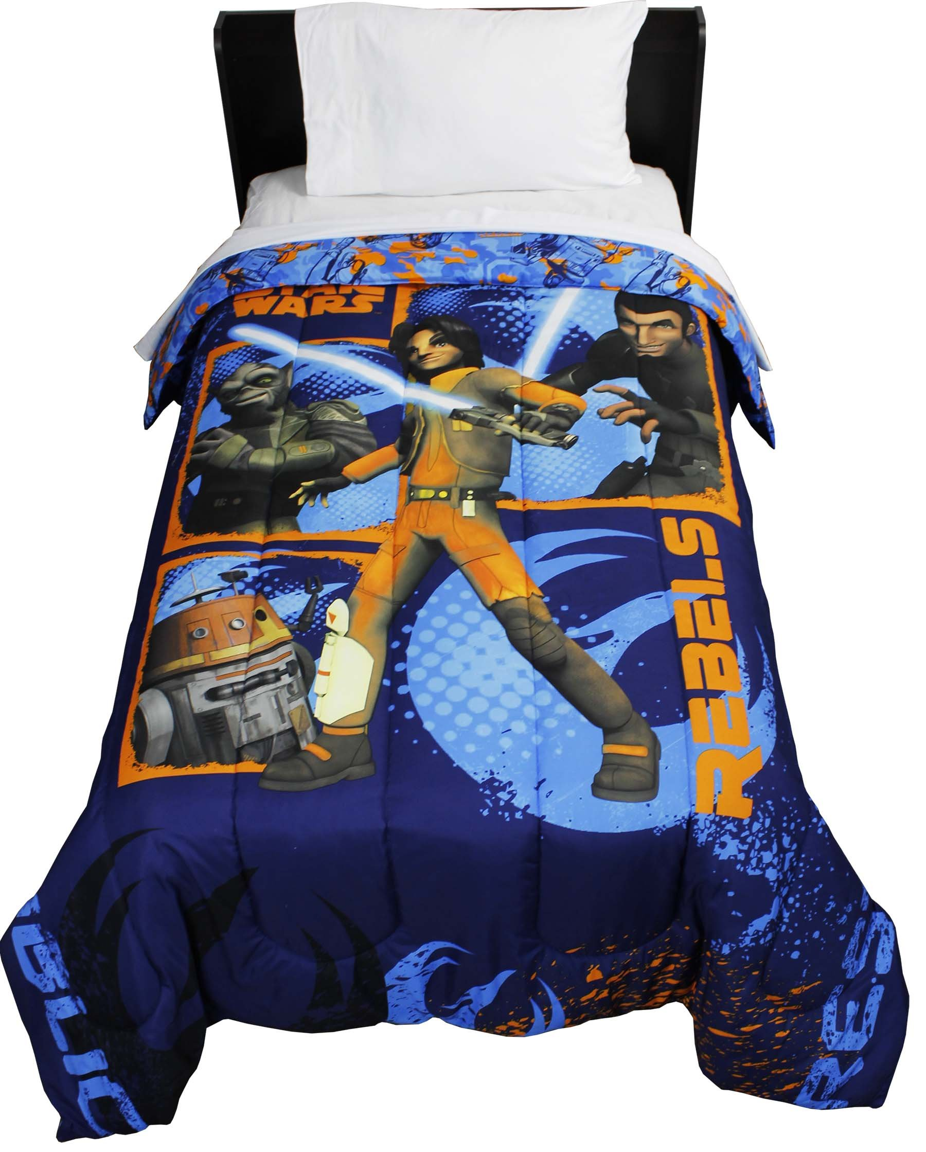 8pc Star Wars Twin Bedroom Set Rebels Fight Comforter Sheets and Window Panels with Tie-Backs by Disney (Image #6)