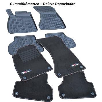 Band blau Fußmatten Audi A5 S5 Coupe Original Qualität Premium Automatten