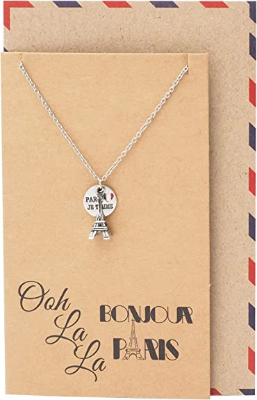 Quan Eiffel Tower Pendant Travel Necklace