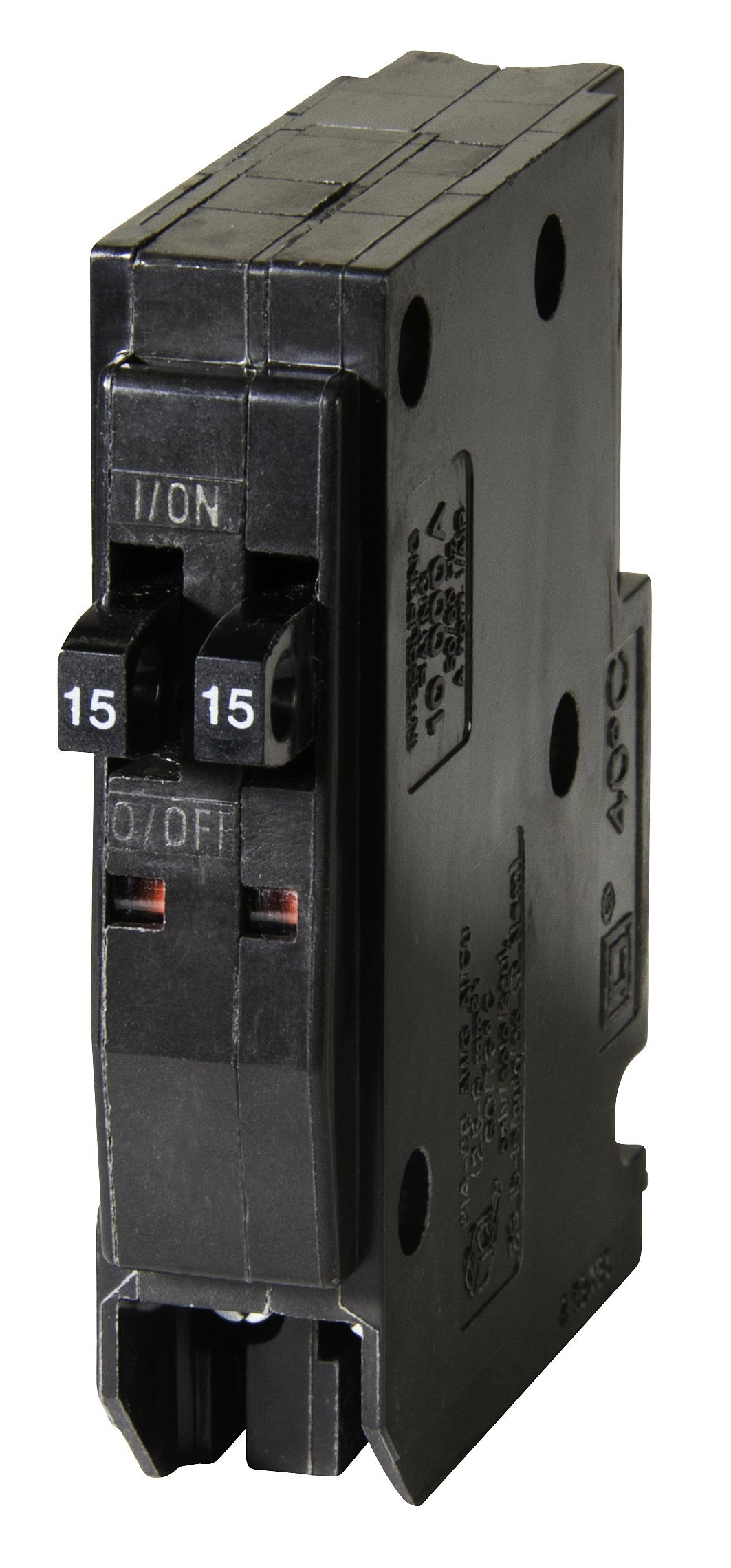 Square D by Schneider Electric QOT1515CP QO 2-15 Amp Single-Pole Tandem Circuit Breaker