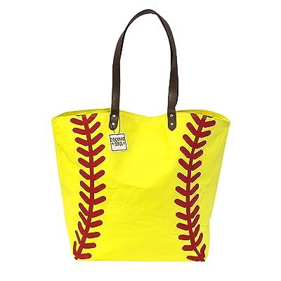 Softball Canvas Tote Bag Handbag Large Oversize Sports 20 x 17 Inches