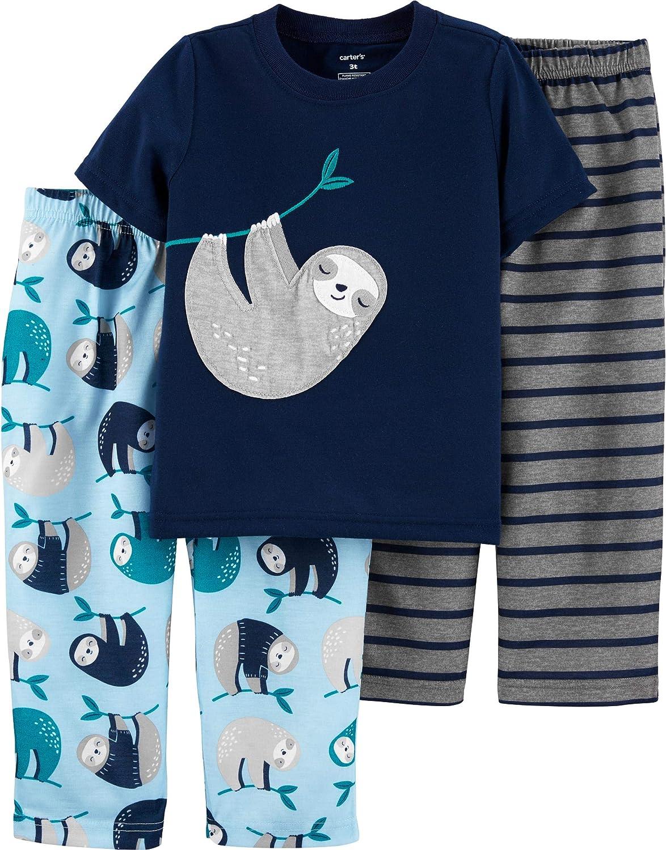 Carters Boys 3-Piece Poly Pajama Sets