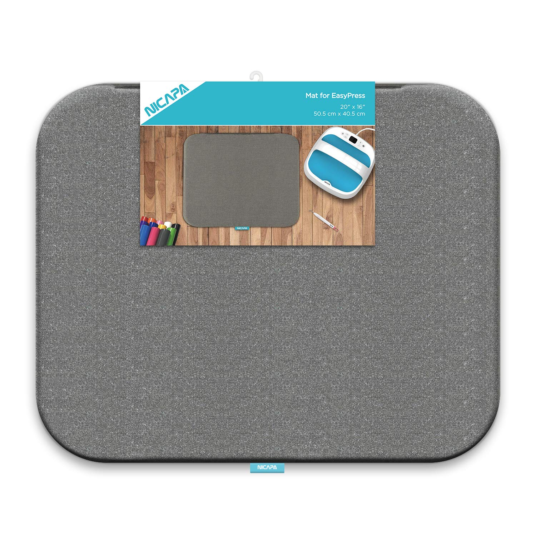 Nicapa Heat Press Mat for Cricut Easypress(16x20 inch) Cricket Craft Vinyl Ironing Insulation Transfer Heating Mats for Easypress 2